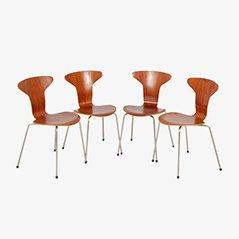 Modell 3105 Ant Chairs von Arne Jacobsen für Fritz Hansen, 1958, 4er Set