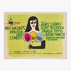 Vintage 'One, Two, Three' 'Eins, zwei, drei' Filmposter, 1961