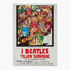 Affiche des Beatles 'Yellow Submarine' Vintage, 1968