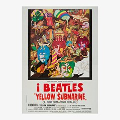 Vintage Yellow Submarine Beatles Film Poster, 1968