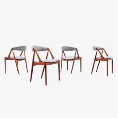 Mid Century Dining Chair by Kai Kristiansen for Andersen Møbelfabrik, 1956, Set of 4
