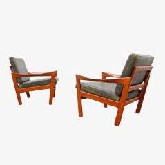 Easy Chair Stühle von Illum Wikkelsø für Niels Eilersen, 1966, 2er Set