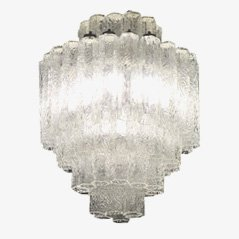 Blown Glass Chandelier by Toni Zuccheri for Venini, 1960s