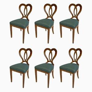 Chaises de Salon Biedermeier du 19ème Siècle, Allemagne, Set de 6