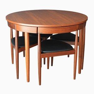 Table de Salle à Manger Extensible avec Six Chaises par Hans Olsen pour Frem Rojle