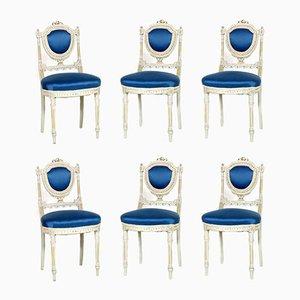 Chaises de Salle à Manger Style Gustavien, Italie, 1930s, Set de 6