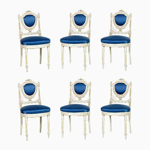 Italian Gustavian Style Dining Chairs, 1930s, Set of 6