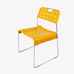 Silla Omstak amarilla de Rodney Kinsman para Bieffeplast, 1972