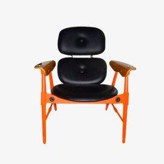 Sedia arancione di Poltronova, anni '70