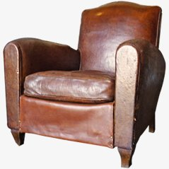 Vintage Leather Armchair, 1930's