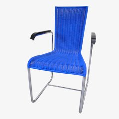 Silla de comedor D25 azul de Stephan Wewerka para Tecta