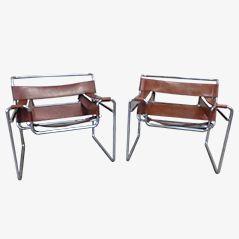Wassily Stühle von Marcel Breuer für Gavina, 1960er, 2er Set