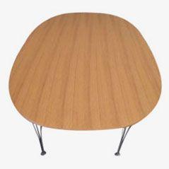 B616 Ellips Oak Table by Arne Jacobsen for Fritz Hansen