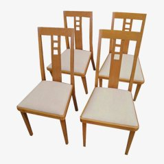 Vintage Dining Chairs by Thonet, 1985, Set of 4