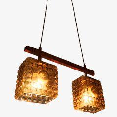 Amber Hanging Lamp, 1950s