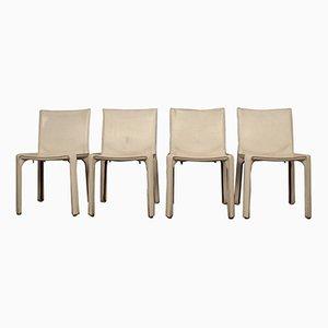 412 Cab Chairs von Mario Bellini für Cassina, 1977, 4er Set