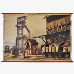 Affiche Murale d'une Mine de Charbon