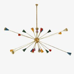Large Sputnik Chandelier from Stilnovo, 1950s