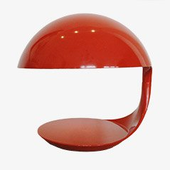 Lampada da tavolo Cobra arancione di Elio Martinelli per Martinelli Luce