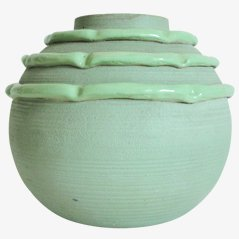 Green Vase by M Luc Lanel, 1940s