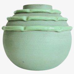 Grüne Vase von M Luc Lanel, 1940er