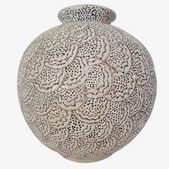 Vintage Ceramic Vase by C.A.B for Primavera, 1930s
