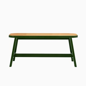 Green Oak Mini Bench Three by Another Country