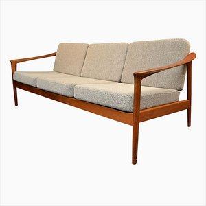 Canapé 3 Places Vintage en Teck par Folke Ohlsson pour Bodafors, Suède