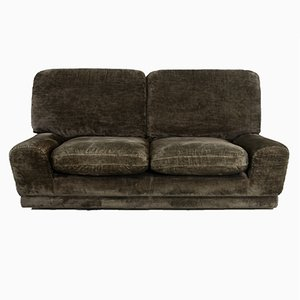 Französisches Samt Sofa, 1970er