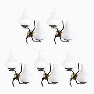 Vintage Wall Lamps, Set of 5