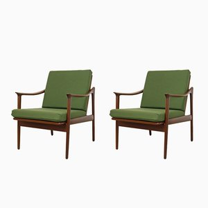Danish Teak Mod. 563 Lounge Chairs by Fredrik Kayser for Vatne Lenestolfabrikk, Set of 2