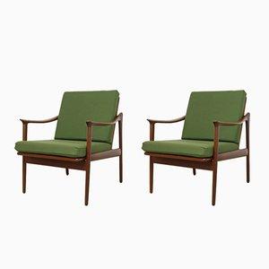 Danish Teak Mod. 563 Lounge Chairs by Fredrik Kayser for Vatne Lenestolfabrikk, Set of 2
