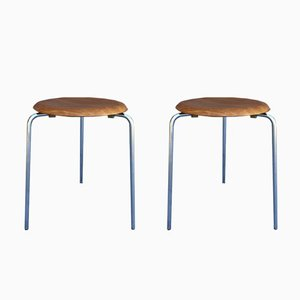 Vintage Stools by Arne Jacobsen for Fritz Hansen, Set of 2