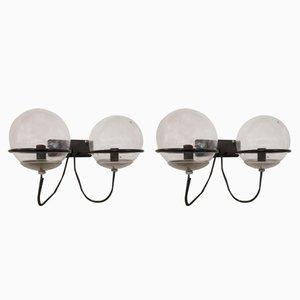 Lampade da parete di Gino Sarfatti per Arteluce, anni '50, set di 2