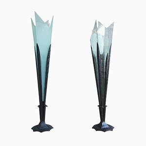Floor Lamps by Jean Born for Robj Paris, 1920s, Set of 2