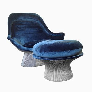 Easy Chair & Ottomane Vintage par Warren Platner pour Knoll International