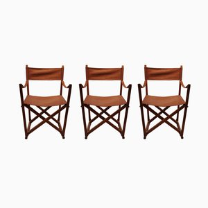 MK 99200 Folding Chairs by Mogens Koch and by Interna Denmark, 1960s, Set of 3