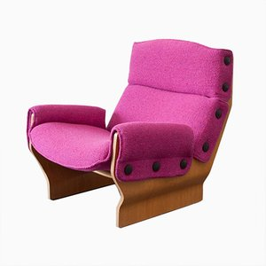 P110 Canada Chair in Pink by Osvaldo Borsani