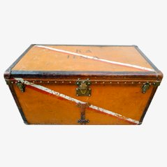 Vintage Orange Vuittonite Canvas Steamer Trunk from Louis Vuitton