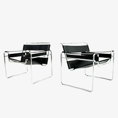 B3 Wassily Chairs by Marcel Breuer for Knoll International, 1970s, Set of 2