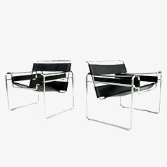 B3 Wassily Stühle von Marcel Breuer für Knoll International, 1970er, 2er Set