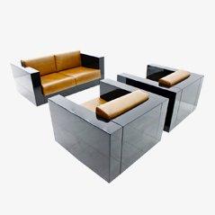 Saratoga Sofa und Sessel von Massimo & Lella Vignelli für Poltronova, 1968