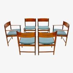 Palisander Esszimmerstühle von Arne Vodder für Sibast Furniture, 1960er, 6er Set