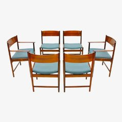 Sedie da pranzo in palissandro di Arne Vodder per Sibast Furniture, anni '60, set di 6