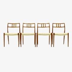 Chaises de Salon Modèle 79 par Niels O. Møller, Set de 4