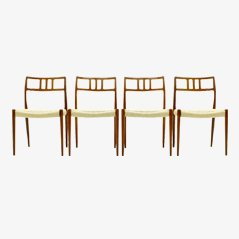 Model 79 Dining Chairs by Niels O. Møller, Set of 4
