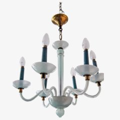 Six Armed Art Deco Chandelier