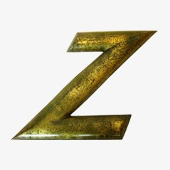 Gold-Plated Letter Z, 1920s