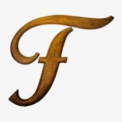 Lettre Cursive F, envion 1900