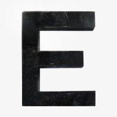 Letra E vintage
